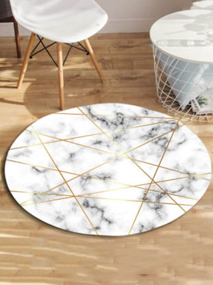Picture of Floor Mat Nordic Style Geometric Pattern Creative Round Mat - Size: M