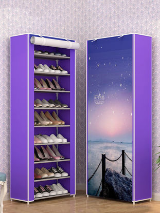 Picture of 1 Pc Shoes Shelf Simple Style 10 Layers Non-woven Waterproof Cloth Shoe Cabinet - Size: One Size