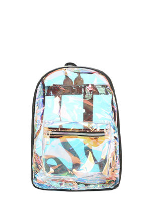 Picture of Women's Backpack Transparent Cool Casual Simple Design Backpack - Size: One Size