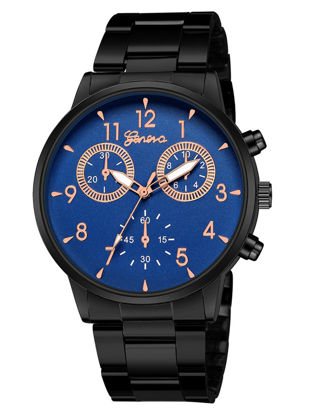 Picture of Men's Quartz Watch Waterproof Sports Stainless Steel Watch Accessory - Size: One Size