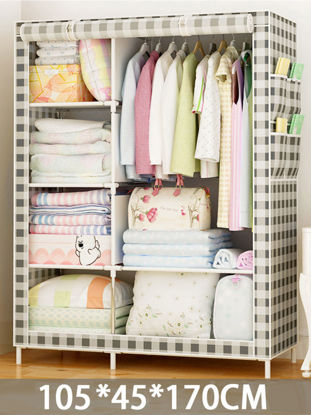 Picture of 1Pc Wardrobe Dustproof Design Convenient Durable Clothes Container - Size: One Size