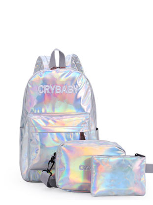 Picture of 3Pcs Women's Backpack Set Zipper Stylish Casual Versatile Bags - Size: One Size