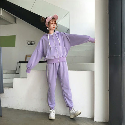 Picture of Suit female loose student casual fashion sports girlfriends loaded two sets of tide - Size: L