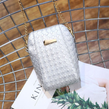 Picture of Women's Other Bags Fashion Simple Quilted Bag - Size: COLOR:Silver
