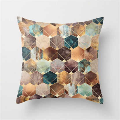 Picture of 1Pc Home Sofa Cushion Cover Modern Simple Geometric Pattern Pillowcase - Size: 45*45(W*L)cm