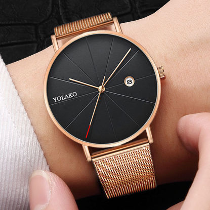 Picture of Men's Quartz Watch Brief Design All Match Ultra-thin Watch Accessory - Size: One Size