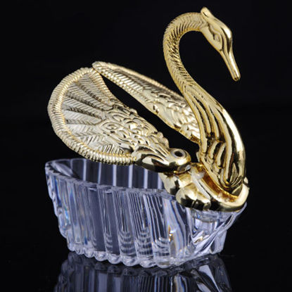 Picture of 12Pcs Swan Sugar Boxes Plastic Candy Boxes Gift Boxes Wedding Party Decoration - Size: One Size