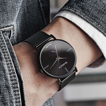 Picture of Men's Quartz Watch Ultra-thin Brief Style Business Leisure Accessory - Size: One Size