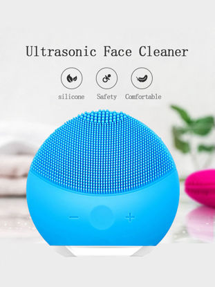 Picture of Facial Brush Sonic Brush Multi-Functional Waterproof Face Cleanser Massager US Plug