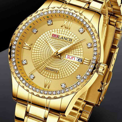 Picture of Men's Quartz Watch Waterproof Pointer Display Calendar Watch Accessory - Size: One Size