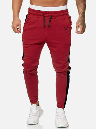 Picture of Men's Sport Pants Casual Patchwork Bandage Trousers - Size: S