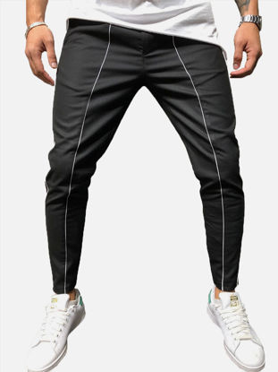 Picture of Men's Jogger Pants Fashion Mid Waisted Pocket Trousers - Size: M