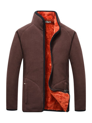 Picture of Men's Casual Jacket Stand Collar Long Sleeve Pocket Decor Solid Color Jacket - Size: XXL