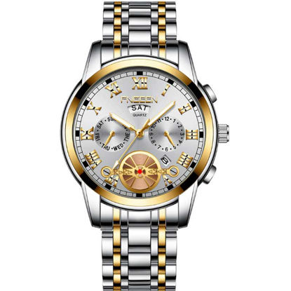 Picture of Men's Quartz Watch Pointer Display Calendar Watch Accessory - Size: One Size