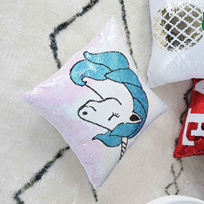 Picture of 1 Piece Cushion Case Cartoon Printed Sequins Decor Cute Trendy Case - Size: One Size