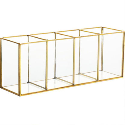 Picture of 1 Pc Cosmetic Box Nordic Style Table Top Glass Storage Box