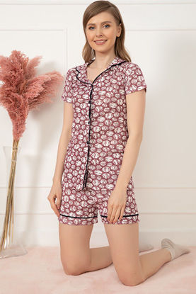 Picture of Patterned Pajamas with Shorts