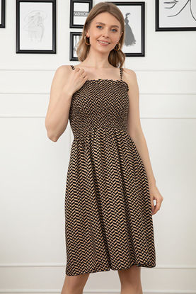 Picture of Patterned Rope Strap Dress