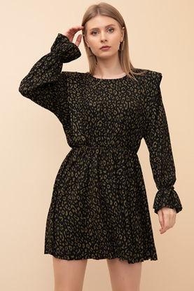 Picture of Patterned Gathered Dress