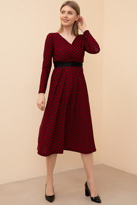 Picture of Polka Dot Belted Dress