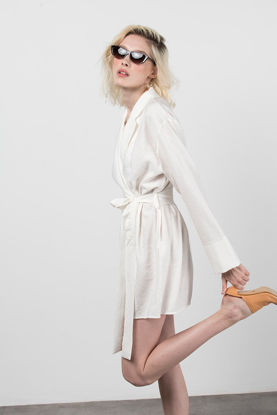 Picture of Envelope Dress With Waistband White