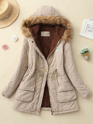 Picture of Women's Quilted Coat Thicken Warmth Hooded Slim Coat