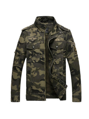 Picture of Men's Jacket Camouflage Zipper Fashion Casual Cozy Coat - Size: M