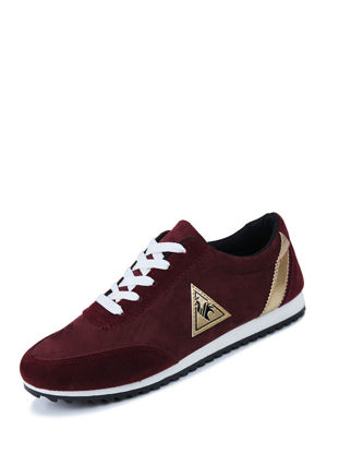 Picture of Men's Shoes Color Block Patchwork All Match Lacing Design Casual  Shoes - Size: 44