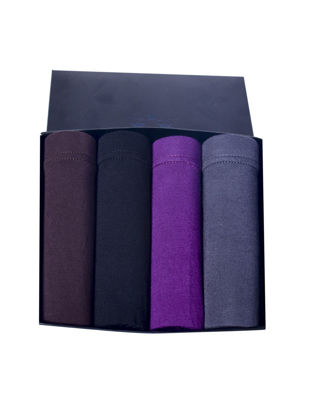 Picture of Men's Underwear Gift Box Elastic Cozy Solid Color Boxers Gift Package