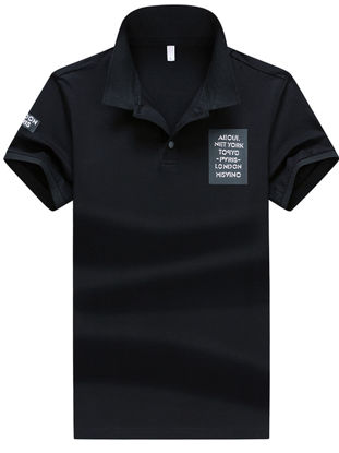 Picture of Men's Sports Polo Shirt Turn Down Collar Short Sleeve Breathable Top