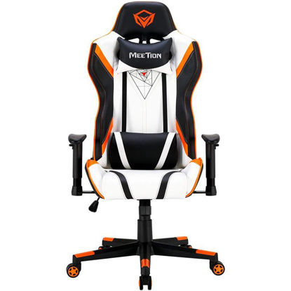 """Picture of Gaming chair with backrest adjustable 180 degrees white color<br>CHR15"""""""