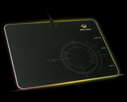 """Picture of glowing RGB LED backlit gaming mouse pad<br>P120"""""""