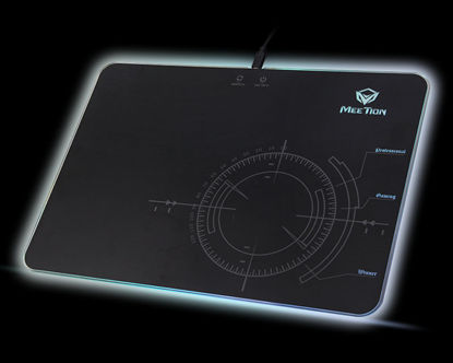 """Picture of glowing RGB LED gaming mouse pad<br>P010"""""""