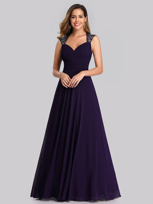 Picture of Ever-Pretty Women's Full Dress Solid Color Hollow Out High Waist Dress-Size: L