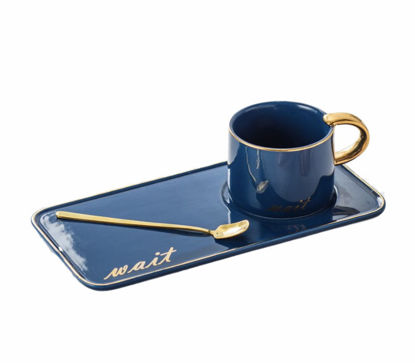 Picture of A cup of tea or coffee with a serving plate