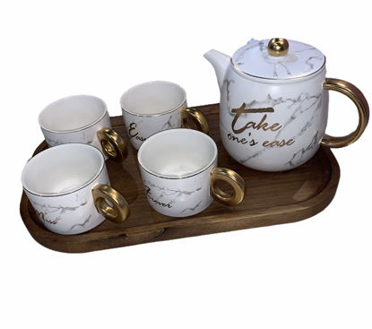 Picture of Teapot set with four cups