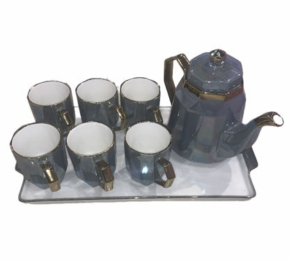 Picture of Teapot set with six cups