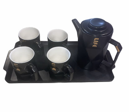 Picture of Teapot set with four cups and a serving tray