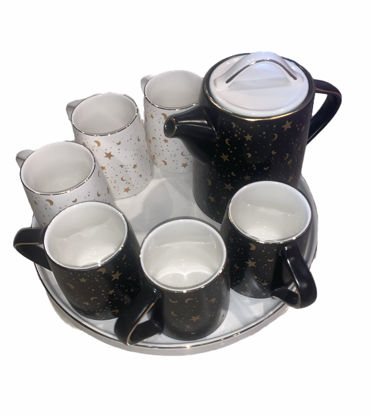Picture of Teapot set with six cups and a serving tray