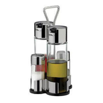 Picture of Three-piece glass oil container
