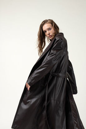 Picture of Turkish women's long leather jacket