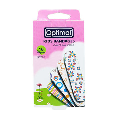 Picture of KIDS BANDAGE-FLOWERS-WHITE BACK GROUND