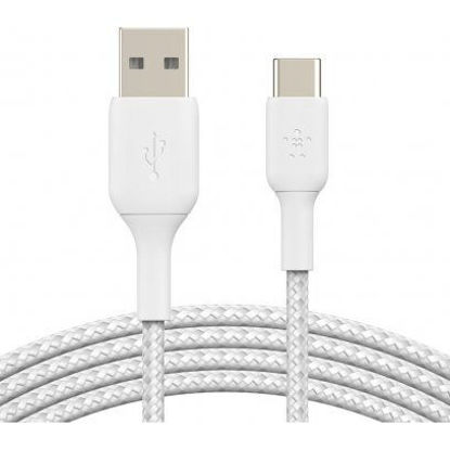 Picture of BOOST CHARGE™ USB-A to USB-CCable_Braided, 1M, White